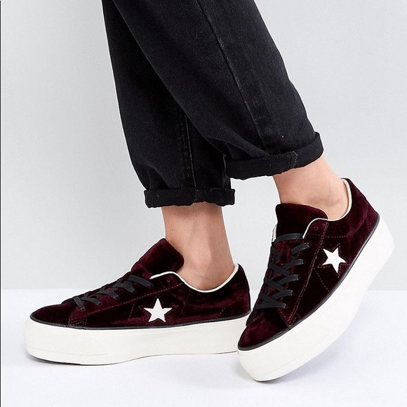 f61704cc53a9 New converse one star velvet shoes